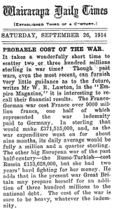 27 September 1914 TOTAL