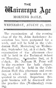 25 TOTAL August 1915