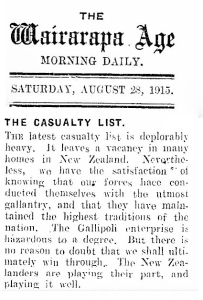 29 TOTAL August 1915